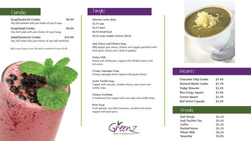 Menu Boards - Greenz - Houston, TX #Restaurant #Hospitality #Layout #Design