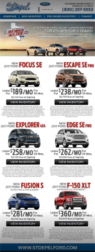 Ken Stoepel Ford-Lincoln digital ad design - Kerrville, TX #Print #Advertising #Kerrville