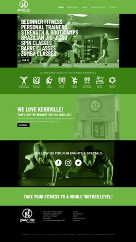 New Website Design - Good Life Fitness Center - Kerrville, TX #Design #Digital #Copywriter