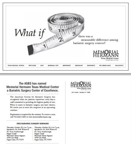 Direct Mail - Memorial Hermann Memorial City Medical Center - Houston, TX #DirectMail #Design #Copywriting