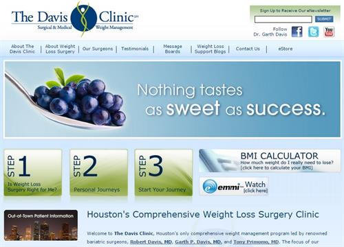 Website Design - The Davis Clinic - Houston, TX #Design #Copywriting #Web