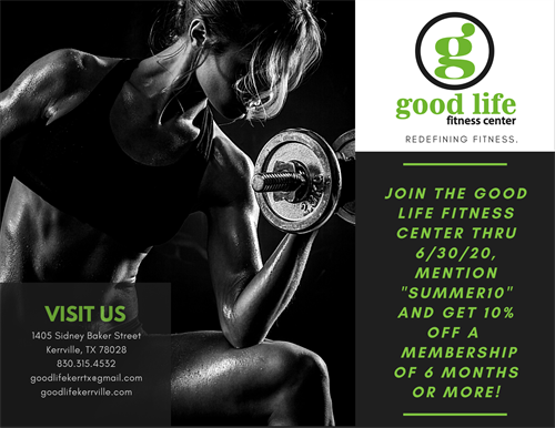 Email Campaign - Good Life Fitness Center - Kerrville, TX #Email #Digital #RevenueGrowth
