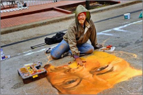 Sidewalk Painting Workshop