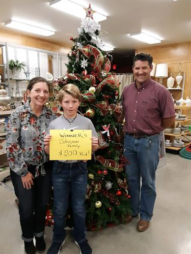 2018 Christmas Tree bidding winner