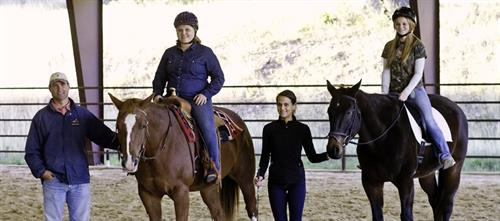 The horse program is as old as HCYR, dating to the building of a barn and arena on the Ingram campus in 1980. Donated ponies and camp horses, along with a few capable volunteers, started the program. Michael Priour took it over in 1992 and still runs it.