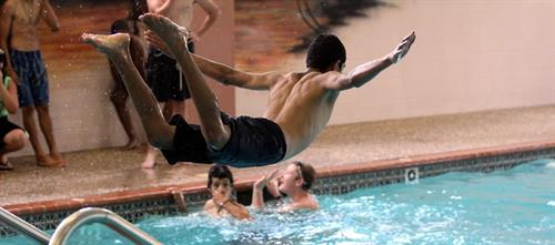 With our indoor olympic size pool we are able to teach every child to swim and offer a competitive swim team!