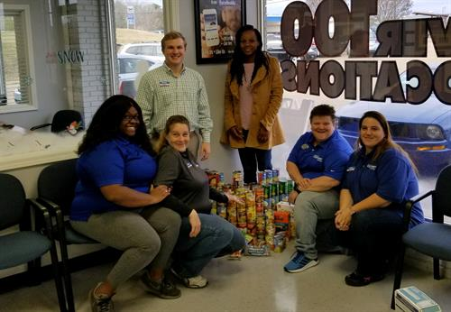 Car-Mart collected canned goods and delivered to The Pantry