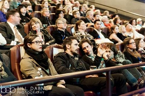 James Franco and Tim Blake Nelson enjoy a film at the 2015 festival
