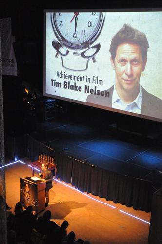 Tim Blake Nelson accepts his award at the 2015 festival
