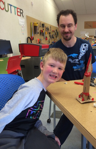 Dad and son design and build rocket