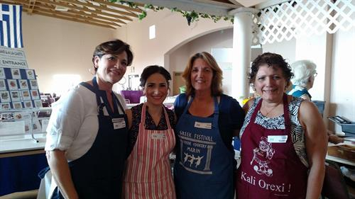 lovely ladies prepping ALL of the homemade food for the annual Greek Festival, some drove as far away as Fremont to be here for this amazing community event