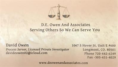D.E. Owen And Associates