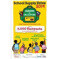 Crayons to Calculators – School Supply Drives and Volunteer Info