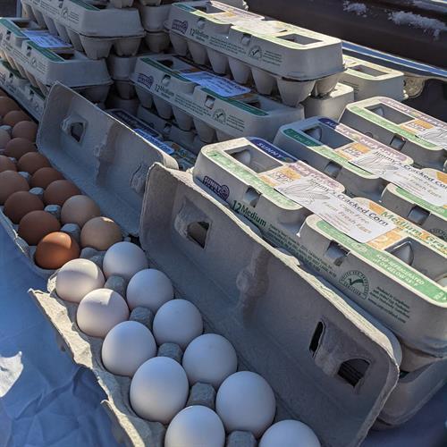 Local eggs.