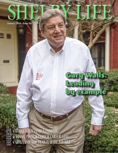 "Our January issue feature story was on Shelby Life owner, Gary Walls being names ""Chamber Member of the Year"""