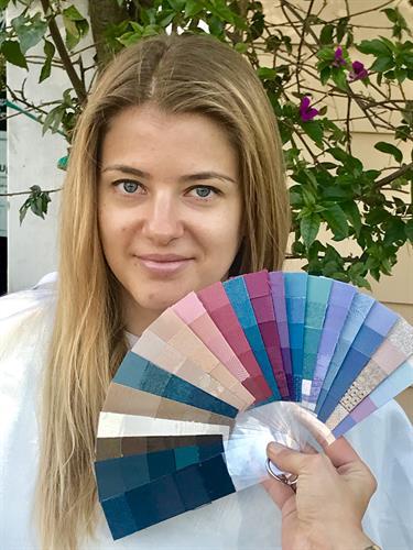 Personal Color Palette Fans