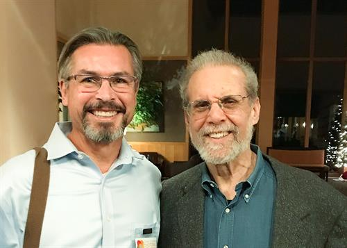 With Dan Goleman at Palissades, New York