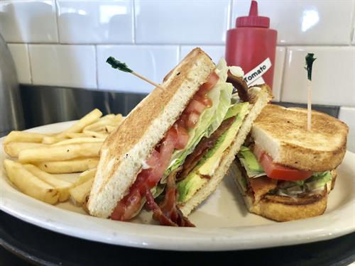 Classic BLT with Avocado & Fries