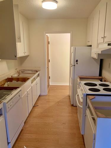 Before photo of kitchen unpacking