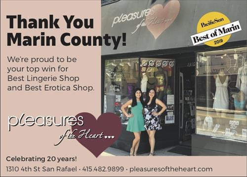 Pacific Sun Best of Marin: Best Lingerie and Best Erotica shop