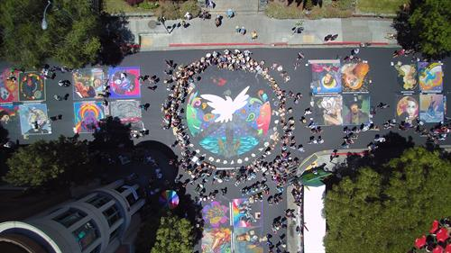 Event Overview Summer of Love: An Art & Music Experience - Photography: Wicked Drones
