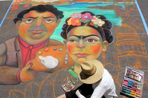 Re-Marriage.  Diego + Frida + San Francisco - Artist: Sara Mordecai, Photographer: Joy Phoenix