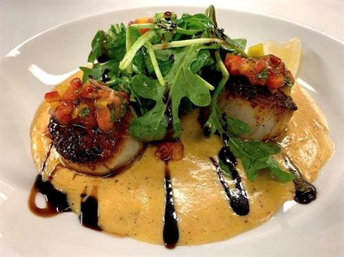 Sweet & Spicy Scallops