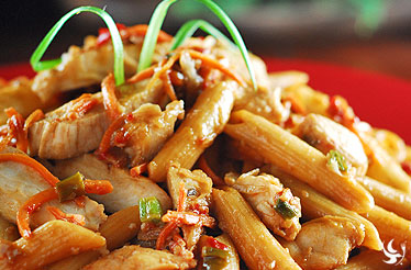 Penne with Peanut Sauce
