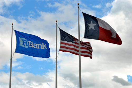 The flags at Round Rock East