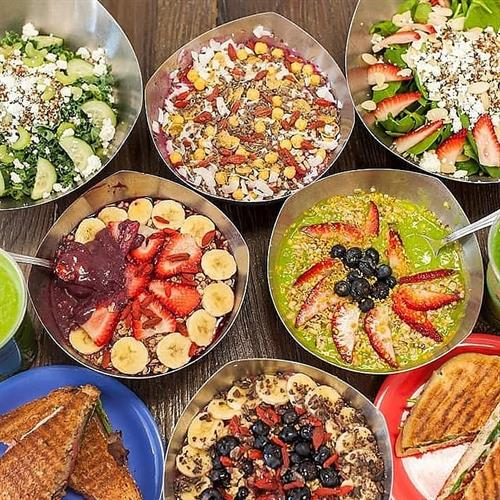 Acai Bowls, Salads, paninis and more!