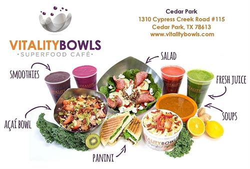 A summary of what we offer! Acai Bowls, Smoothies, Paninis, Fresh Juices, Salads & More