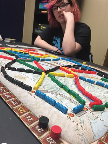 A game of Ticket To Ride