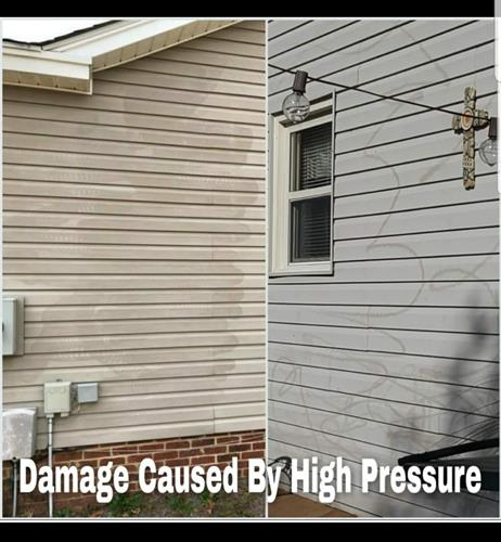 We use a softwash technique that will not damage your siding.