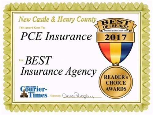 2017 Best Insurance Agency (The Courier Times)
