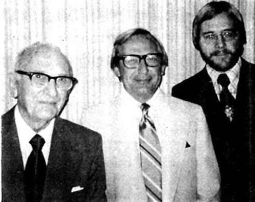 A 1975 photo of Pfenninger Agency founder Jake Pfenninger, his son, Paul, and his grandson, Steve.