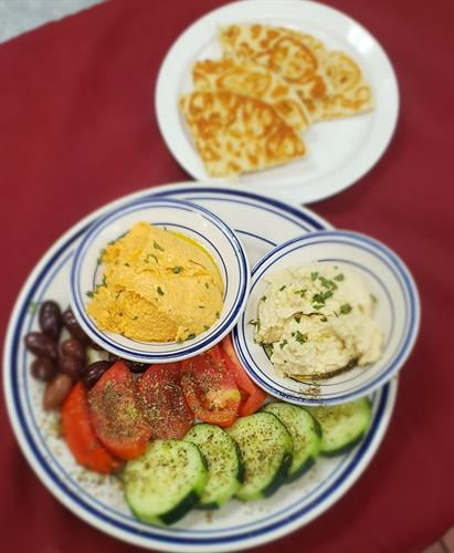 Greek Meatless Trio Plate