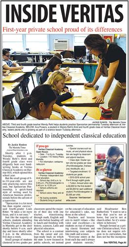 Veritas Classical Academy in the news!