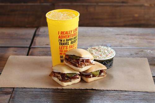 Sliders, Savory Side, Big Yellow Cup