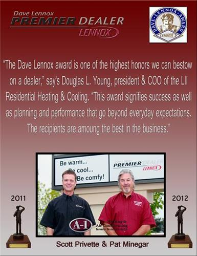 2011 & 2012 Dave Lennox Award Winner