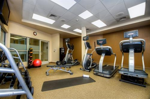 Get in a good workout while far-away from home in our new Star Trac Fitness Center.