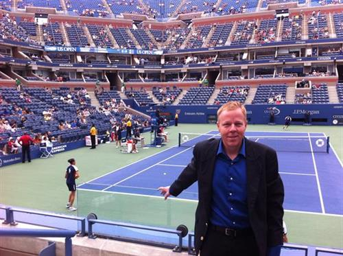 Executive Director Mike Harvey at 2013 US Open