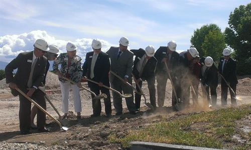 Groundbreaking on Building II at the United Heritage campus (5/2014)