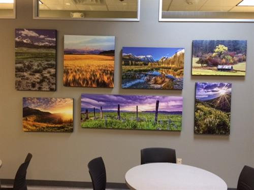 Collage of Idaho landscapes designed and installed by Iconic Idaho