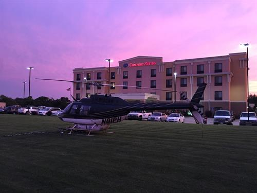 Comfort Suites Hopkinsville - Helicopter Parking