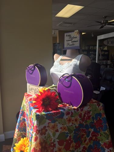 We carry a large selection of in-stock Mastectomy Bras and forms