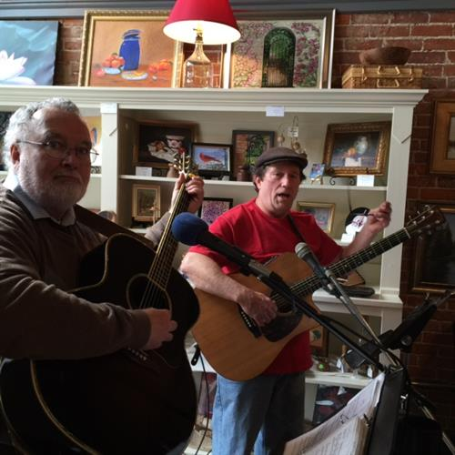 Jim Garnett and Steve Naas playing at Be My SweetArt Event