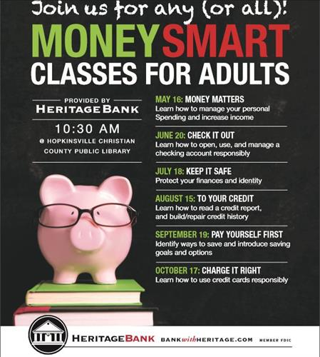 Money Smart financial classes taught by Heritage Bank employees