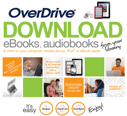 Download eBooks, audiobooks, and videos to your device with Overdrive. All you need is your library card.