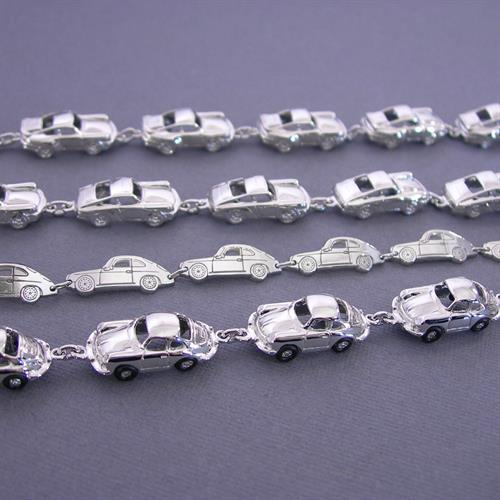 Exclusive 356 Car Bracelets in Sterling Silver or Gold