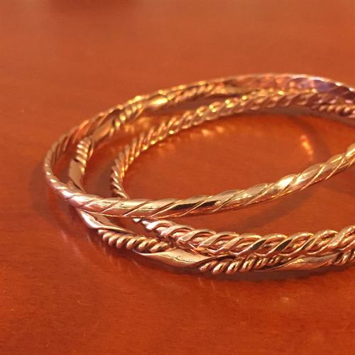 Stackable Copper Bangle Bracelets